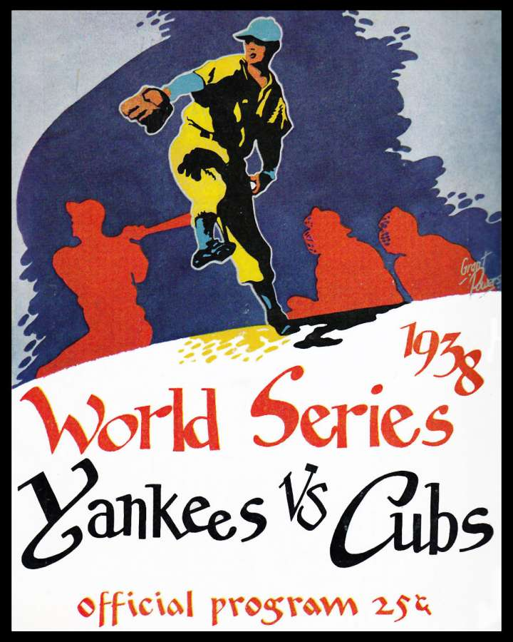 1938 Yankees Cubs World Series official program 25¢