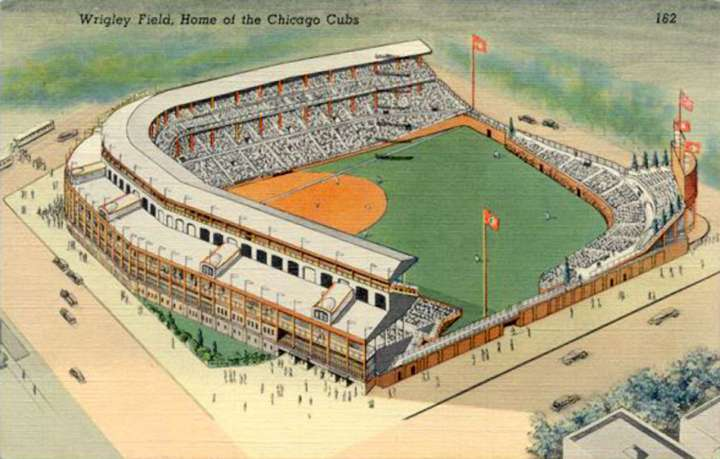 1940s Wrigley Field, Home of the Chicago Cubs Postcard