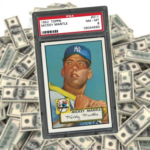 1952 Topps Mickey Mantle baseball card sets eBay record for trading card price