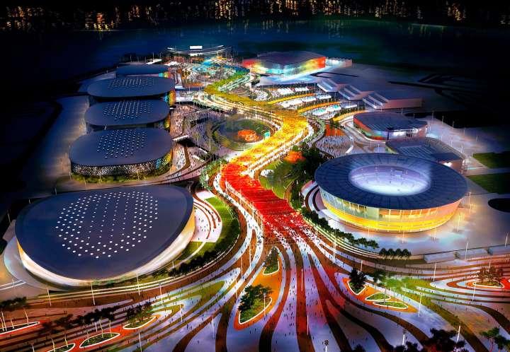 2016 Rio Olympic-Park in Barra neighborhood at night