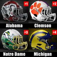 2018 CFP Rankings Week 12: Alabama, Clemson, Notre Dame, Michigan