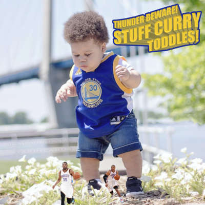 "Steph Curry fan Baby Landon Benton (aka ""Stuff Curry"") pursues Oklahoma City Thunder stars"