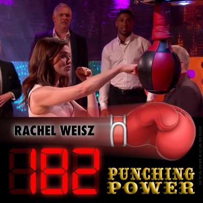 Actress Rachel Weisz scores 182 on arcade boxing machine on 'The Graham Norton Show'