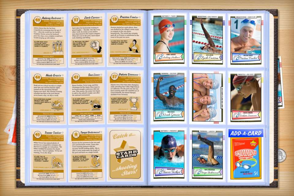 Make your own custom swimming cards with Starr Cards.