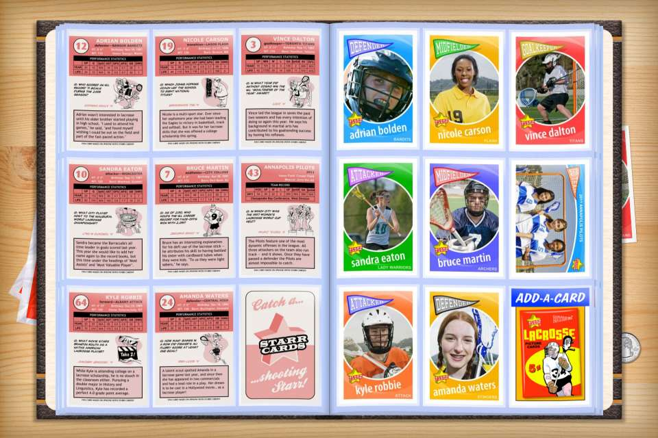 Make your own custom lacrosse cards with Starr Cards.