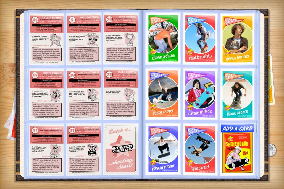 Make your own custom skateboarding cards with Starr Cards.