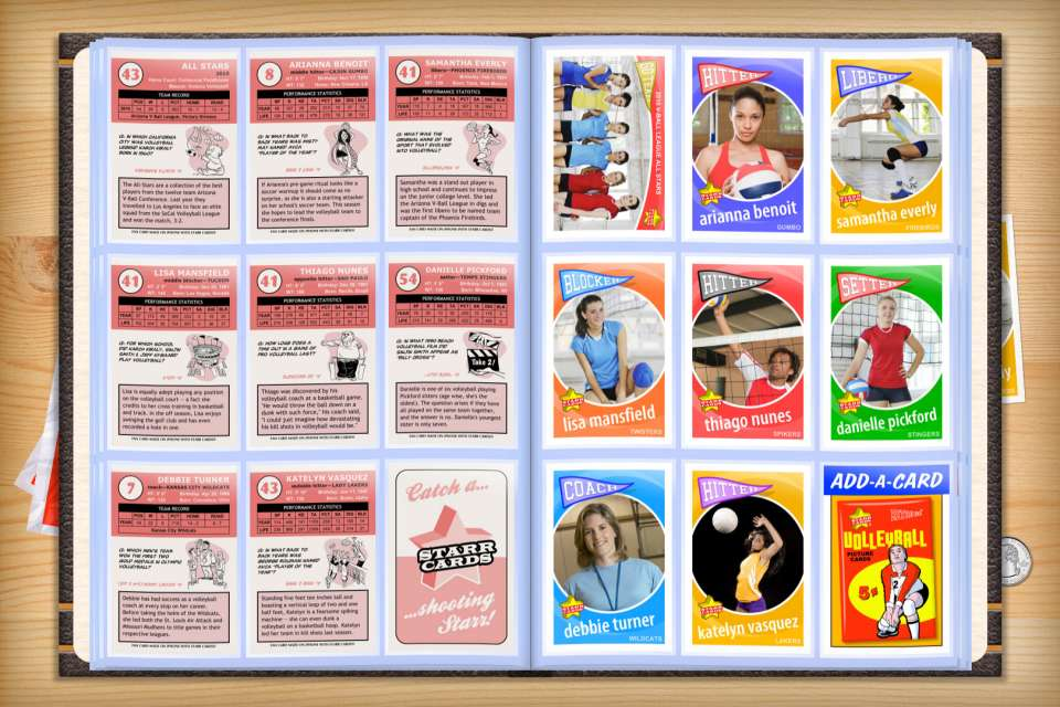 Make your own custom volleyball cards with Starr Cards.