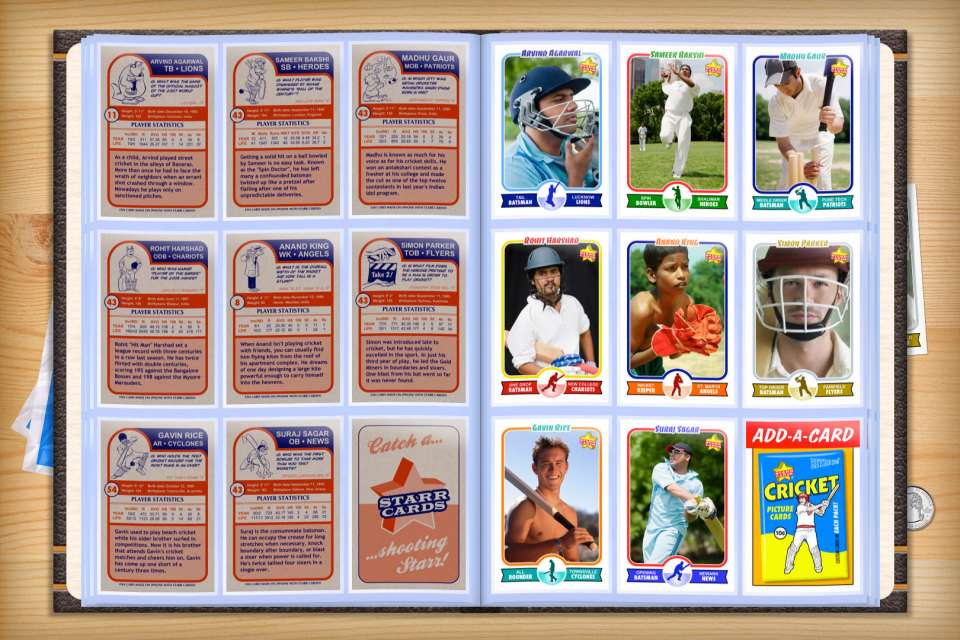 Make your own custom cricket cards with Starr Cards.