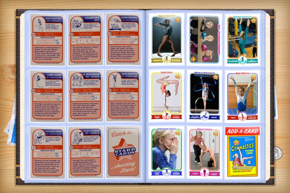 Make your own custom gymnastics cards with Starr Cards.