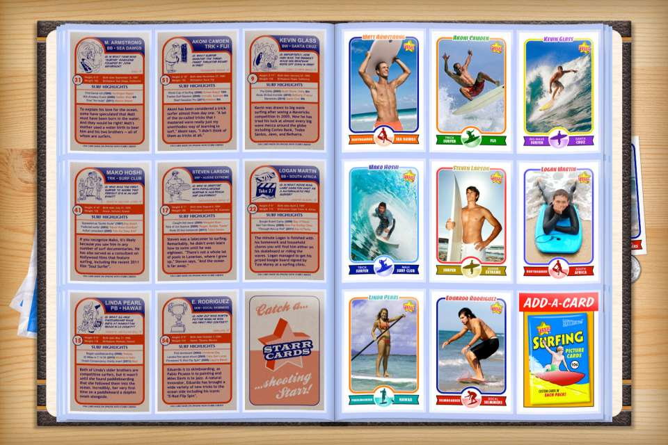 Make your own custom surfing cards with Starr Cards.