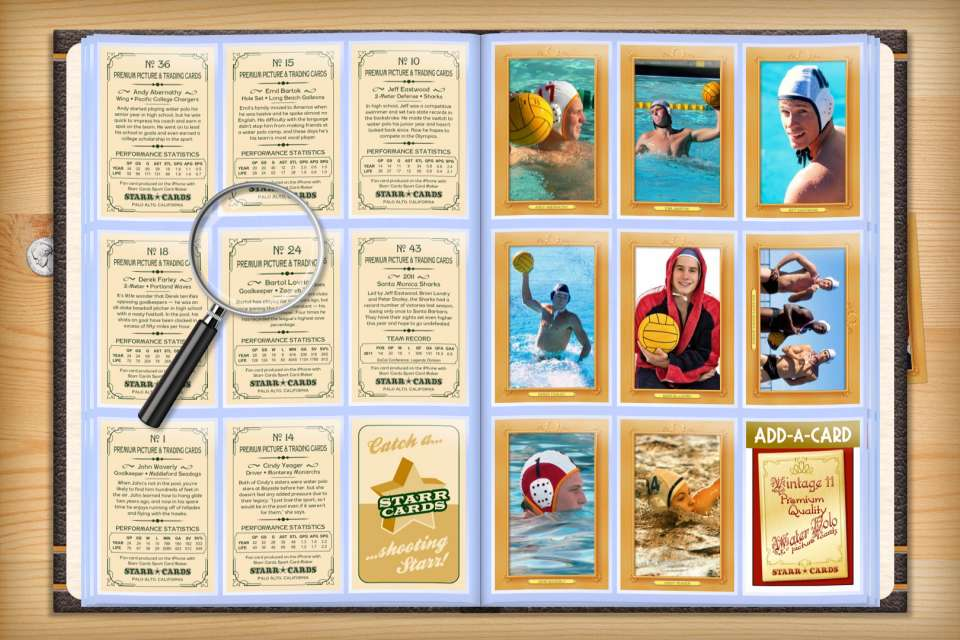 Make your own custom water polo cards with Starr Cards.