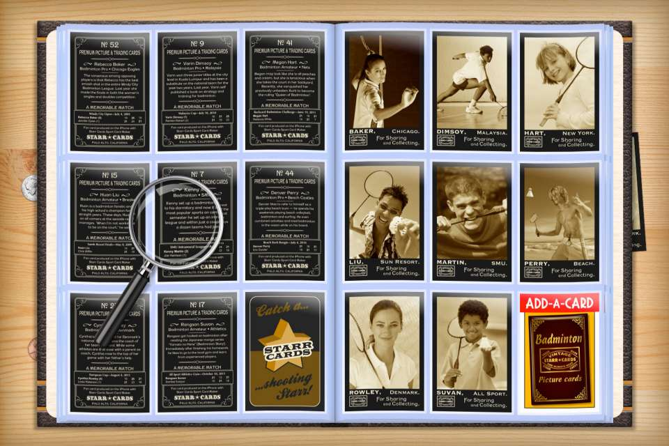 Make your own custom badminton cards with Starr Cards.