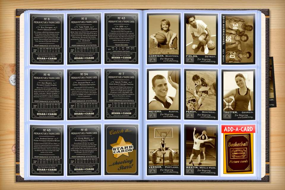 Make your own custom basketball cards with Starr Cards.