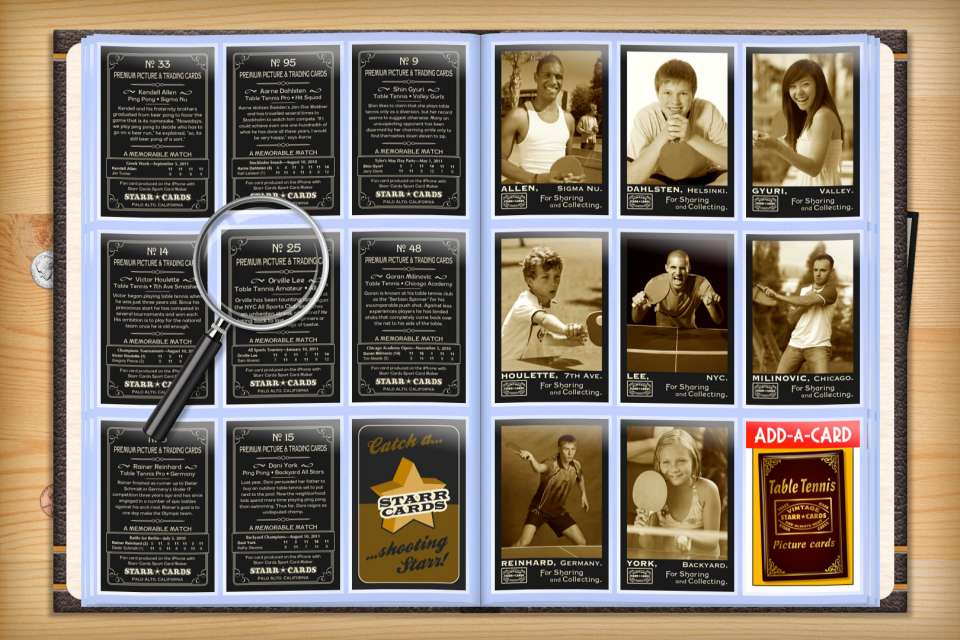 Make your own custom table tennis cards with Starr Cards.
