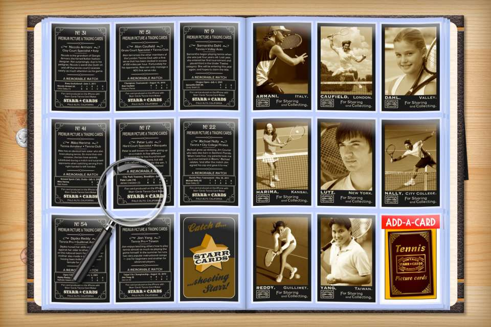 Make your own custom tennis cards with Starr Cards.