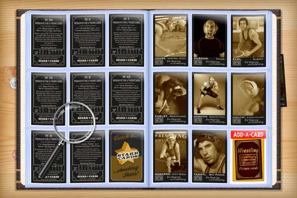 Make your own custom wrestling cards with Starr Cards.