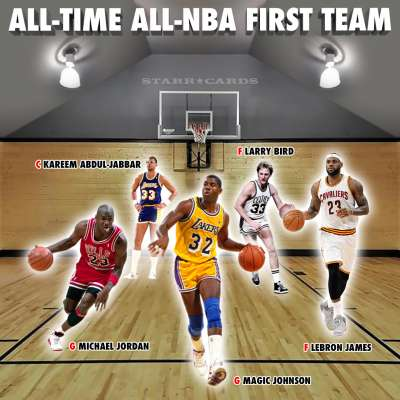All-time All-NBA first team by GOAT ratings includes LeBron, MJ and Magic