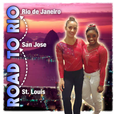 Aly Raisman and Simone Biles on the Road to Rio