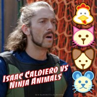 American Ninja Warrior Isaac Caldiero vs Chicken, Cat, Dog and Mouse