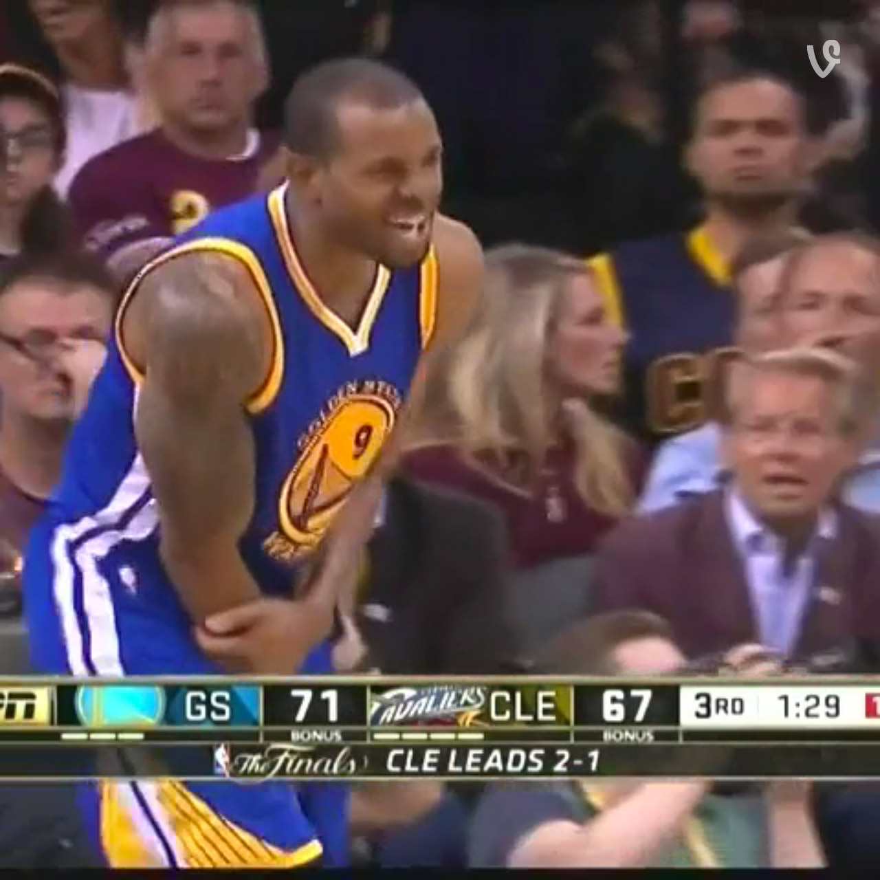 Andre Iguodala mocks LeBron James in Game 4 of the NBA Finals
