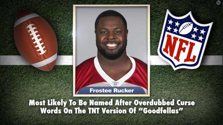 "Arizona Cardinals' Frostee Rucker on ""Tonight Show Superlatives"" read by Jimmy Fallon"