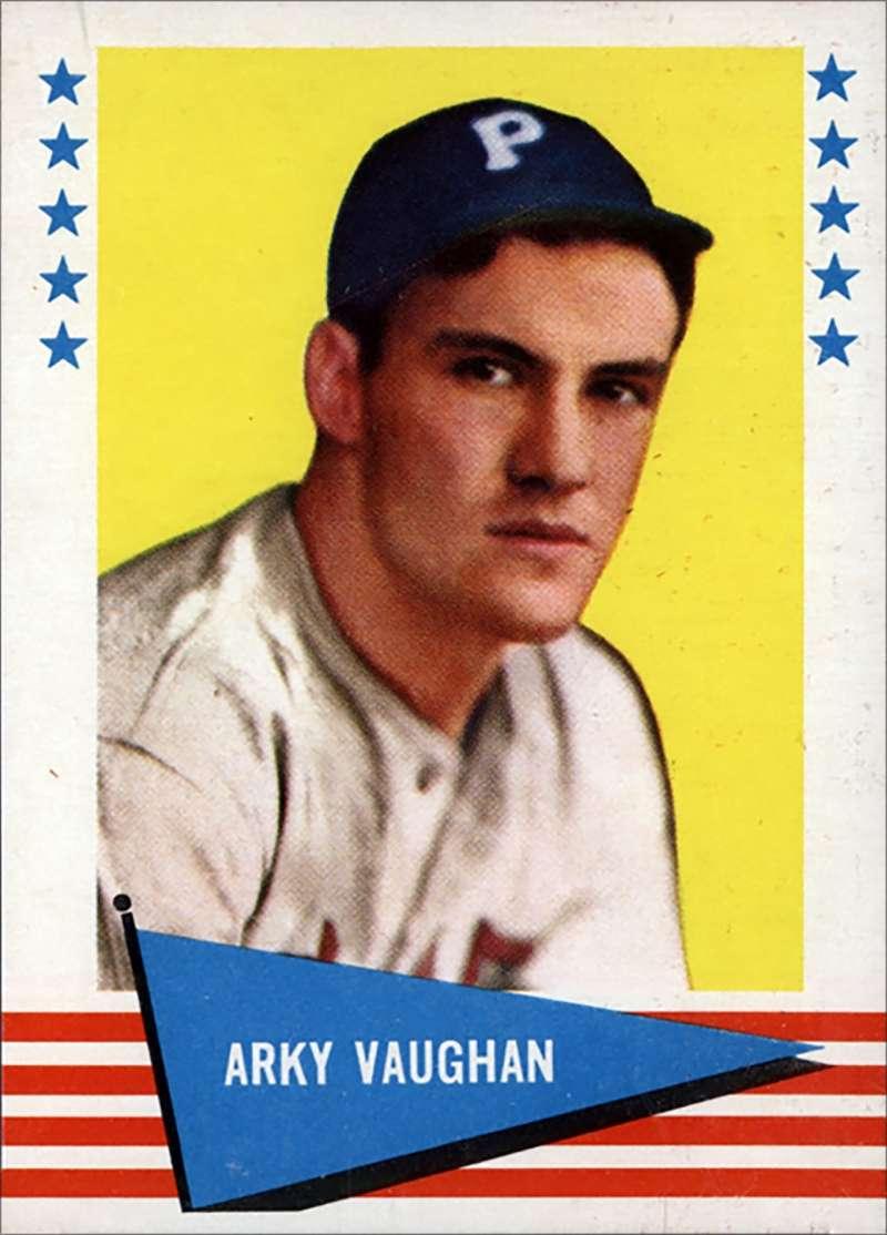 Arky Vaughan 1961 Fleer baseball card