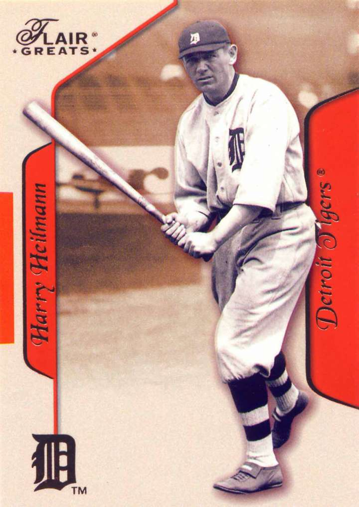 Baseball card of Detroit Tigers outfielder Harry Heilmann