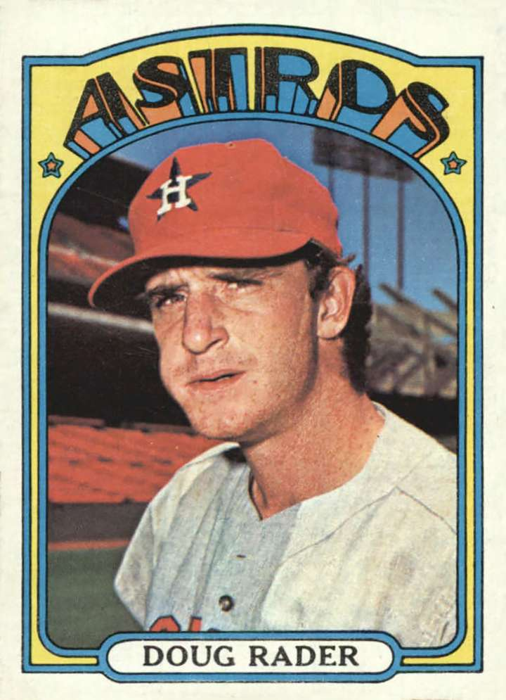 Baseball card of Houston Astros third baseman Doug Rader