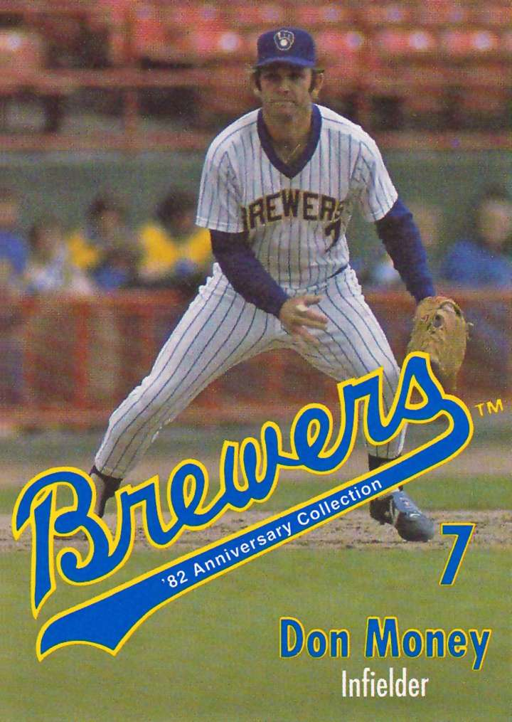 Baseball card of Milwaukee Brewers infielder Don Money