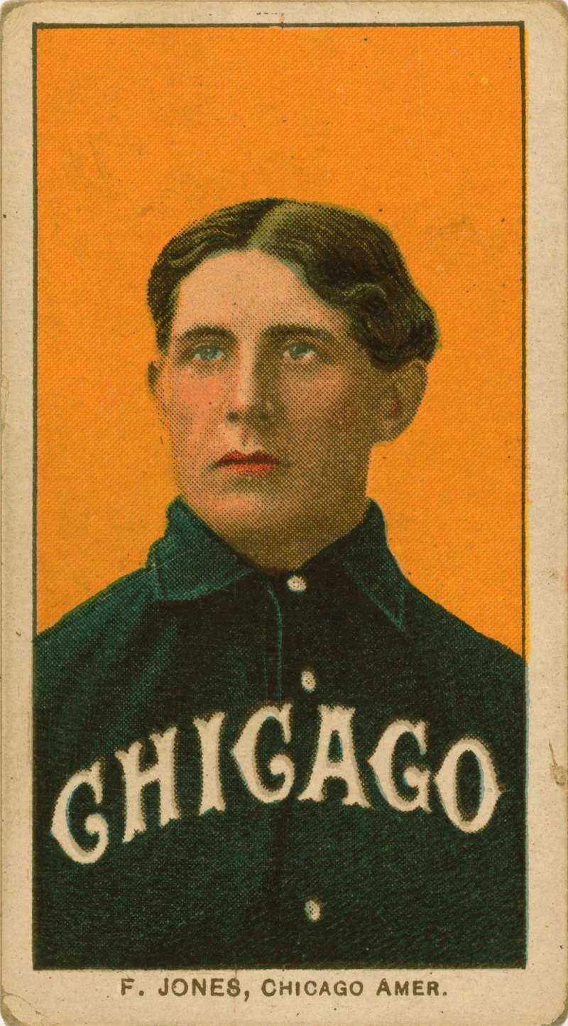 Baseball card of White Sox outfielder Fielder Jones