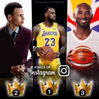 Basketball Kings of Instagram: LeBron James, Steph Curry, Kobe Bryant