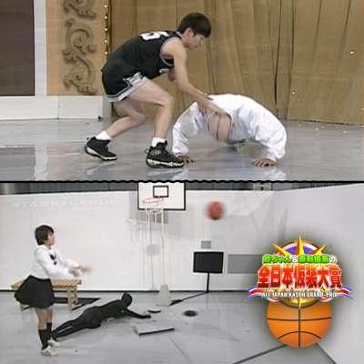 Basketball sketches on 'All Japan Kasoh Grand-Prix' aka 'Masquerade' or 'Kasou Taishou'