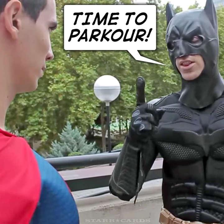 Batman v Superman: Dawn of Parkour