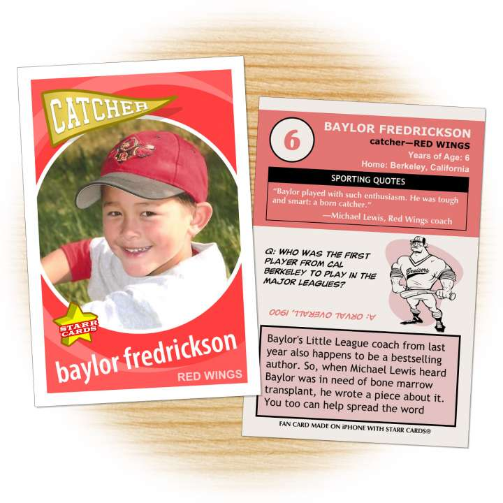 Little League catcher Baylor Fredrickson needs a bone marrow transplant.