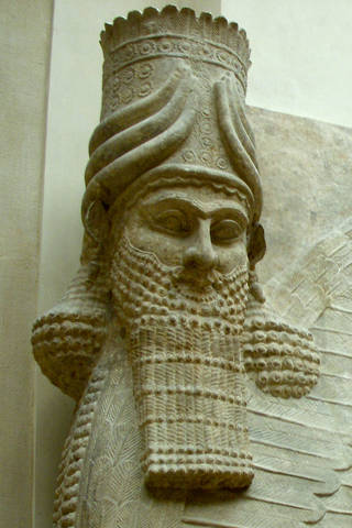 Bearded lamassu at the Louvre