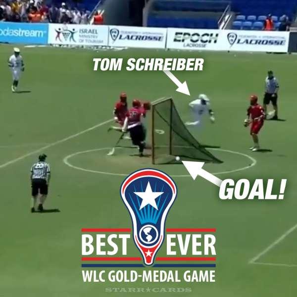 Best-ever World Lacrosse Championship game stars Tom Schreiber