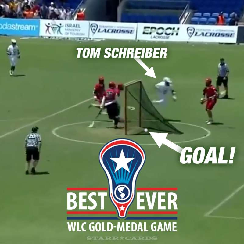 Best-ever World Lacrosse Championship game stars Tom Schreiber