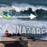 Big-wave surfing at Nazaré, Portugal