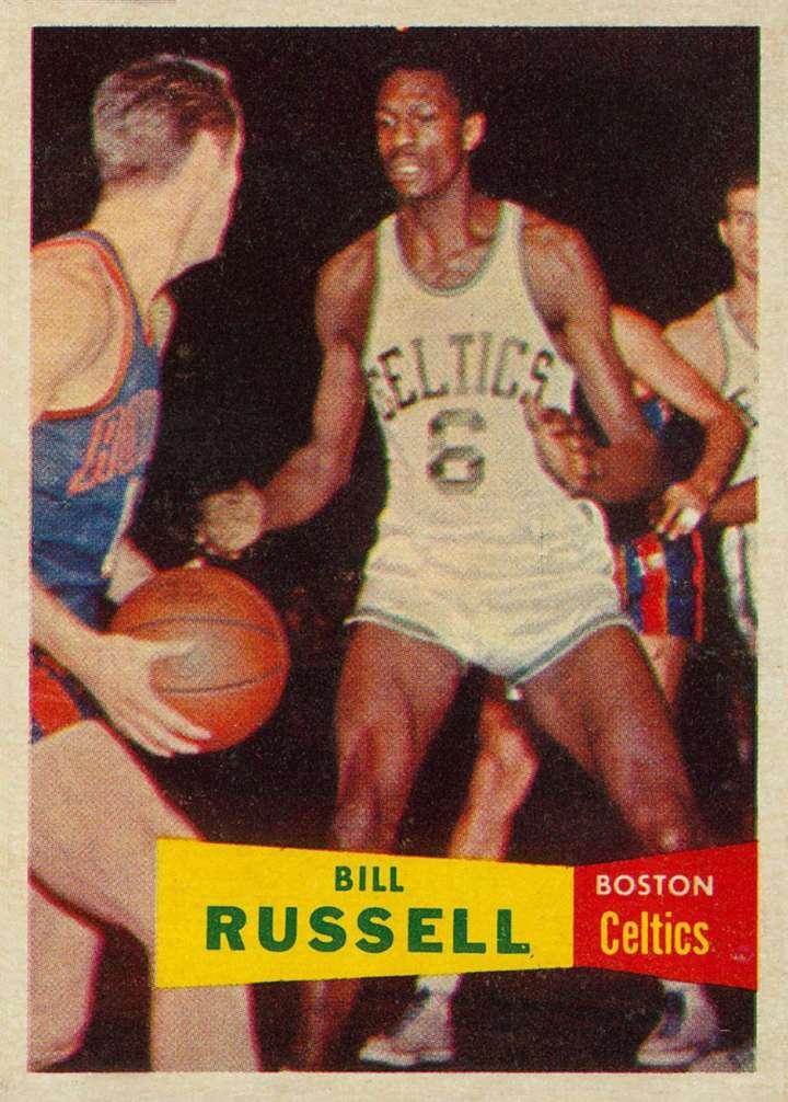 Bill Russell 1957 Topps rookie basketball card