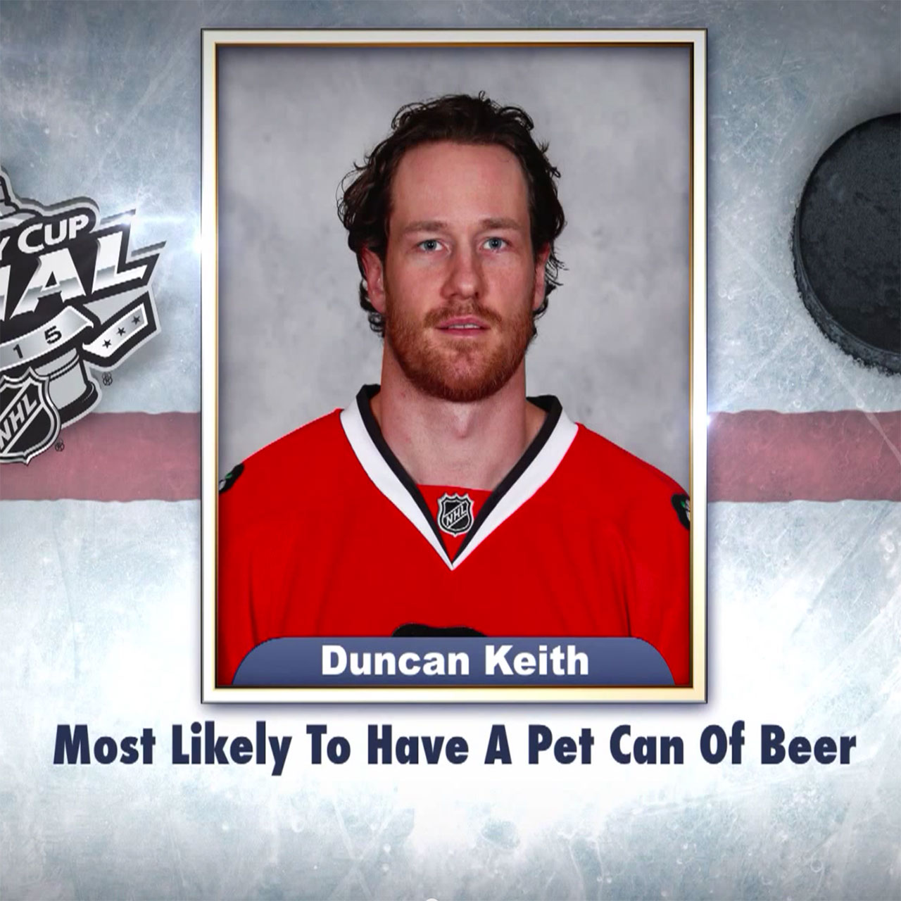 "Blackhawks' Duncan Keith on ""Tonight Show Superlatives"" read by Jimmy Fallon"