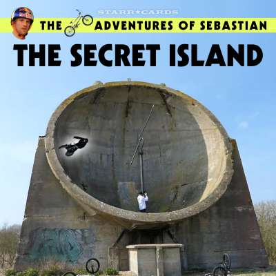BMX Adventures: Sebastian Keep rides inside a giant acoustic mirror on secret island