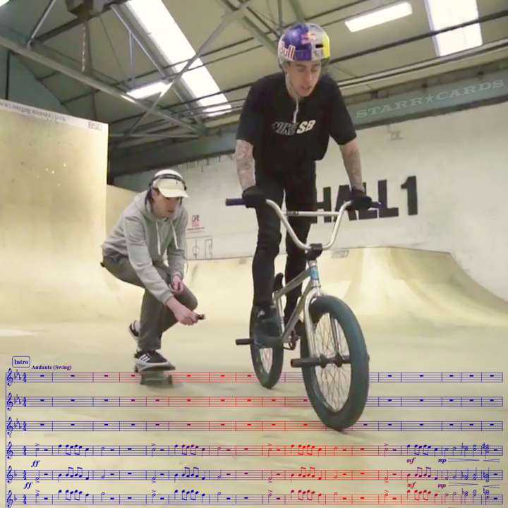 BMX rider Kriss Kyle provides samples for Big Miz and Bessa to create electronic music