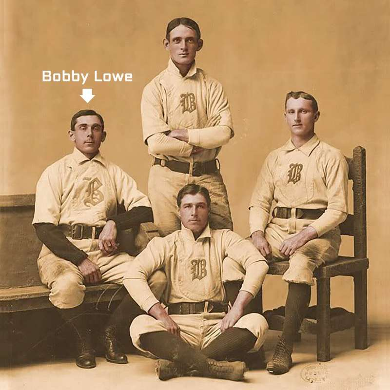 Boston Beaneaters infield with Bobby Lowe