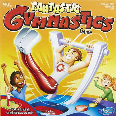 Box cover of Hasbro's Fantastic Gymnastics Game