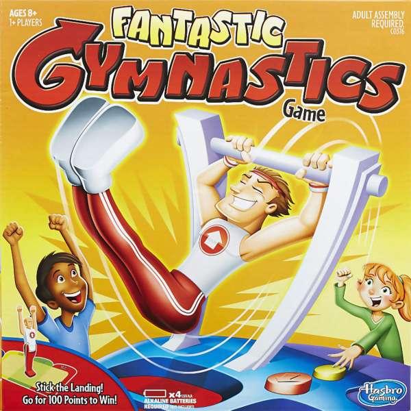 Box cover of Hasbro's Fantastic Gymnastics Game