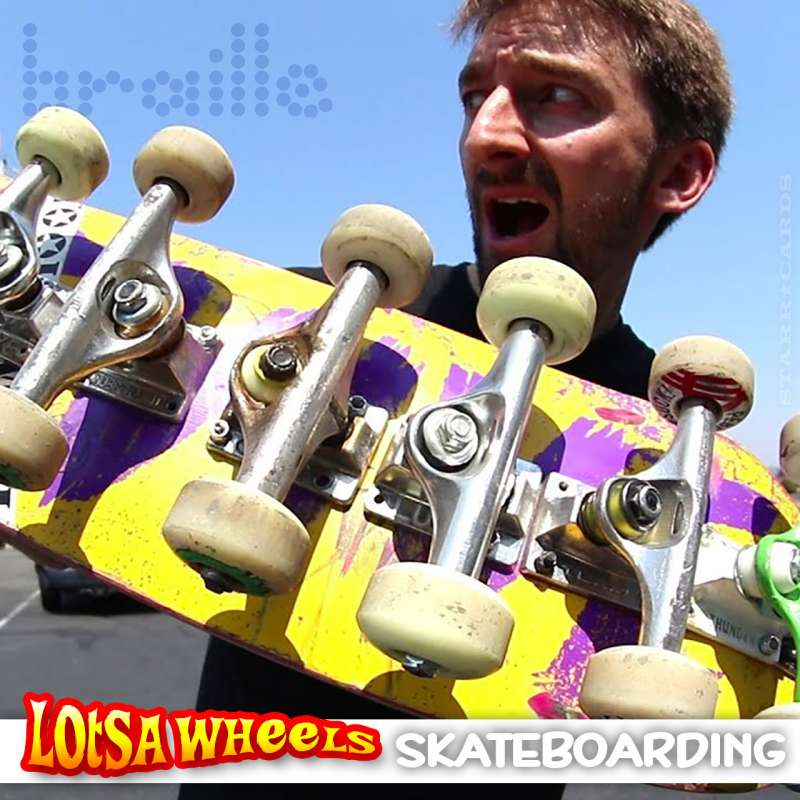 Braille Skateboarding tries new-fangled boards with lotsa wheels