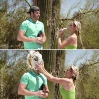 Bro vs Pro: Brodie Smith gets pied by Paige Spiranac