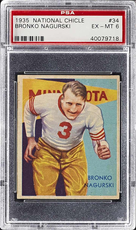Bronko Nagurski, 1935 National Chicle football card