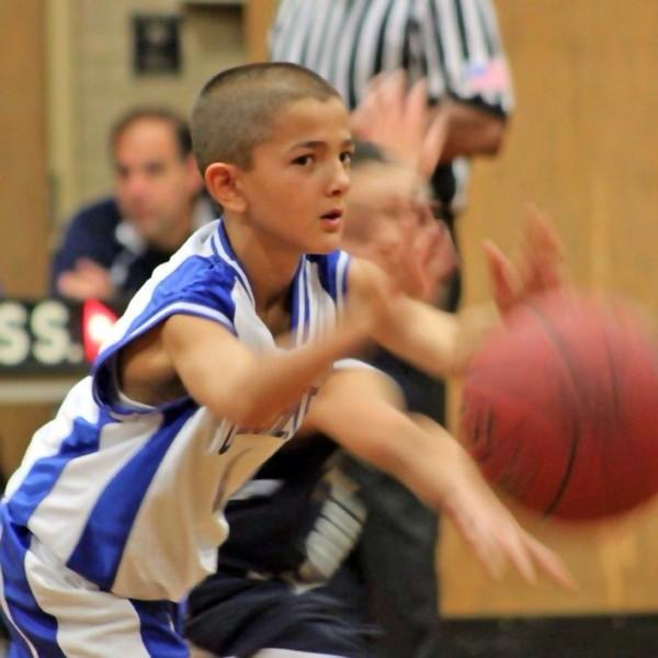 Cam Pizzo plays basketball