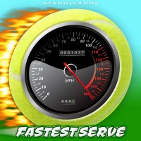 Can the fastest tennis serves exceed 160 miles per hour